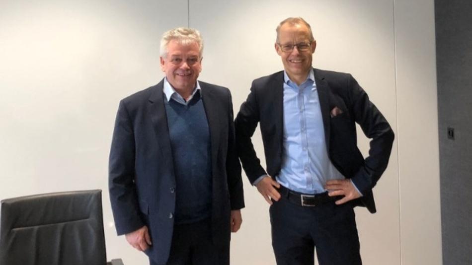 Links: Bernhard Böhrer, CEO WEBfactory GmbH; Rechts: Staffan Dahlström, CEO HMS Networks
