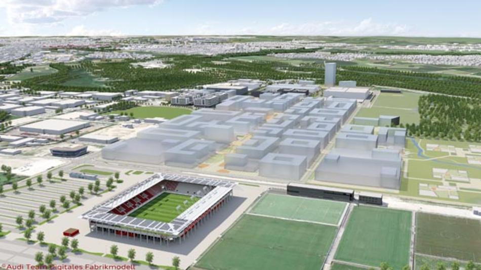 IN-Campus: In Ingolstadt entsteht der Audi-Technologiepark der Zukunft. 60 Hektar werden künftig zum Industriegebiet, 15 Hektar groß ist die naturnahe Ausgleichsfläche.