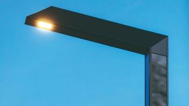 "Funktionelle Technik im modernen Design: die energieautarke LED-Leuchte ""Lediva""."