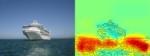 Die Heatmap zeigt ganz deutlich: Der Algorithmus trifft die Entscheidung Schiff oder nicht Schiff anhand der Wasser-Bildpunkte und nicht anhand derer, die das Schiff ausmachen.