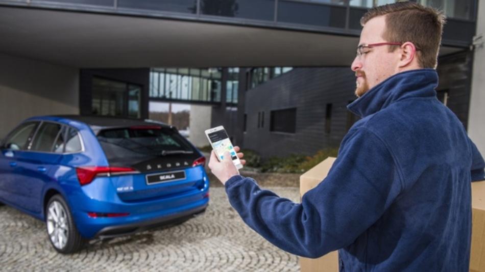 Wenn das Fahrzeug zur Lieferadresse wird: Škoda Auto DigiLab startet Pilotprojekt.