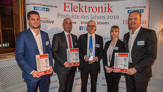 v.l.n.r.: Markus Rochau, ODU; Andreas Pannagl, Matthias Schuster; Yamaichi Electronic; Farina Halstenberg, Thomas Lüke; Bopla