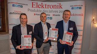 von li: Helmut Plötz, Arrow; Philip Berghoff, Phytec; Reiner Grübmeyer, Kontron