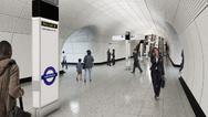 Menschen auf dem Weg zur Arbeit in der U-Bahn-Station