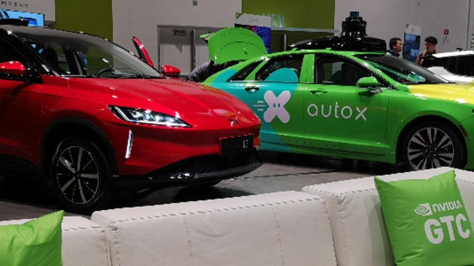Der Showcase zu autonomem Fahren auf der GTC 2019.