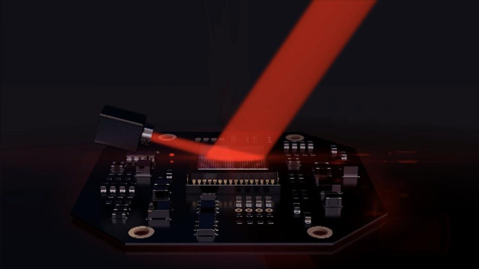 Der LiDAR-Chip von Lumotive.