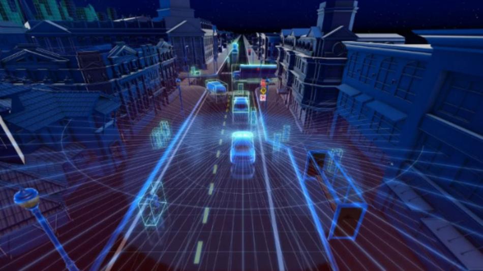Die Velodyne-Sensoren ermöglichen ein hochauflösendes Abbild der Fahrzeugumgebung in Echtzeit.