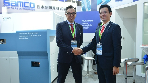 Dr. Thomas Wenzel (l.), General Manager Yxlon International und Takaaki Hattori (r.), President Nagoya Electric Works Co., Ltd