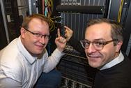 Dr. Thomas King und Eric Dorr von DE-CIX Datacnter Internetknoten Frankfurt Breitbandausbau