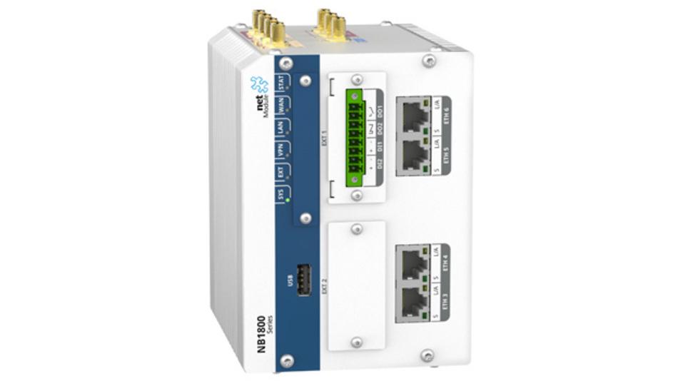 Industrie-Router NB1810 von NetModule bietet Fernspeisung per Power-over-Ethernet (PoE+)