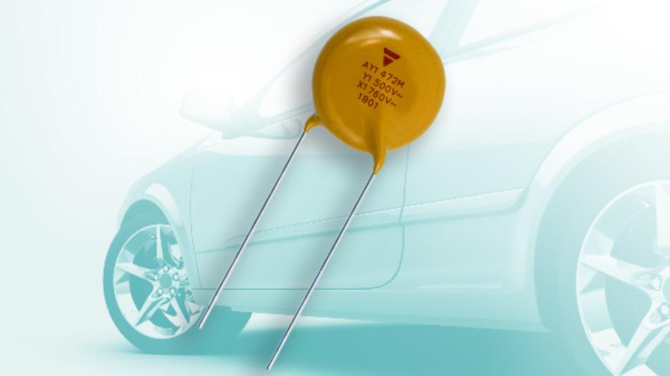 Die Kondensatoren der Serie AY1 decken den Kapazitätsbereich von 470 bis 4700pF ab.