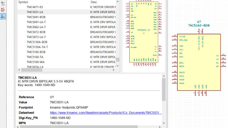 Zunächst 45 Komponenten von Trinamic umfasst die neue »Digi-Key Partner-Bibliothek«.