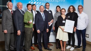 Das Medineering-Team bei der Verleihung des Bayerischen Innovationspreises.