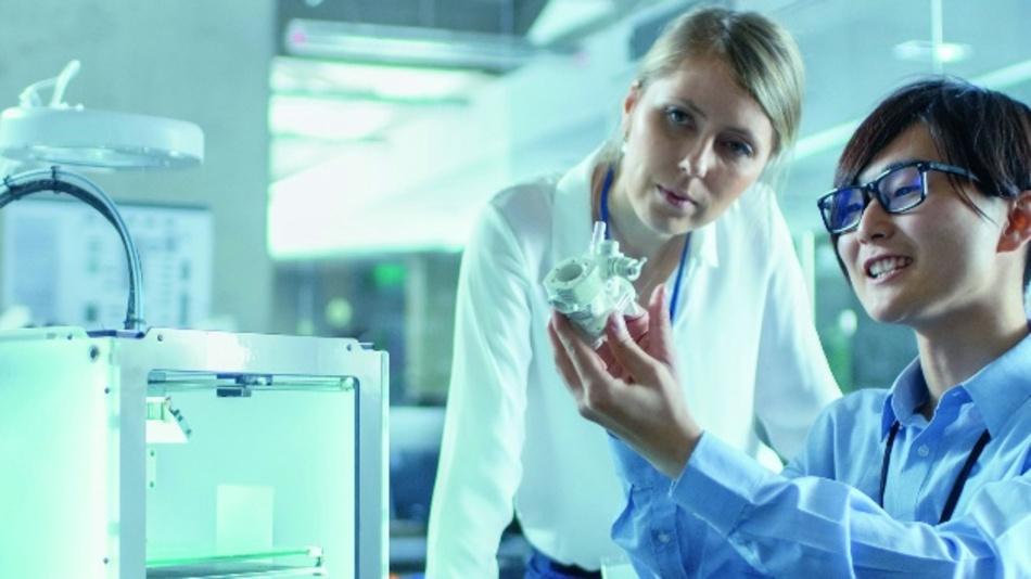 Nicht nur eine Frage der Größe: Beim 3D-Druck für die Medizin spielt auch das Material eine entscheidende Rolle.