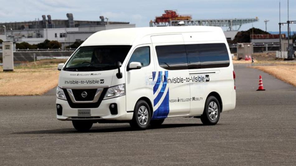 Nissan und Docomo testen I2V-Technologie nun im Fahrbetrieb.
