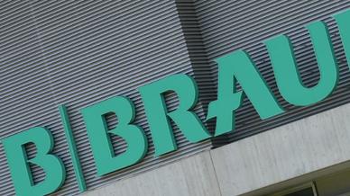 Das Logo des Medizintechnik-Herstellers B. Braun Melsungen.