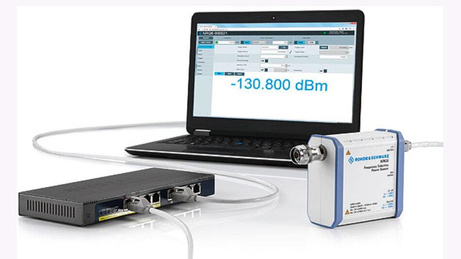 Ein neues HF-Leistungsmessgerät, das die guten Eigenschaften vom Messempfänger und HF-Leistungsmessgerät vereint.