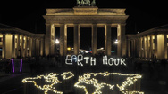 Lichtinstallation zur Earth Hour 2019