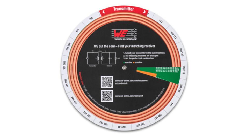 Mit einem Dreh zu passenden Wireless-Power-Spulen für Sender und Empfänger.