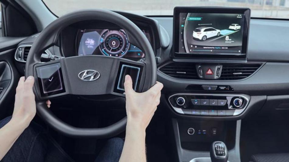 Hyundai hat ein virtuelles Cockpit vorgestellt, dass an die Bedürfnisse des Fahrers angepasst ist. Besonderheit: 3D-Effekt sortiert Informationen nach Relevanz und minimiert Ablenkung.