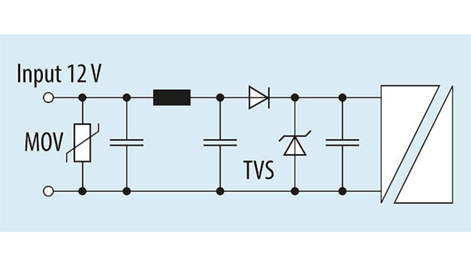 Bild 3. DC/DC-Eingangsfilter für Automotive- Anwendungen.