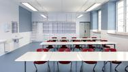 Innenansicht eines Klassenraums
