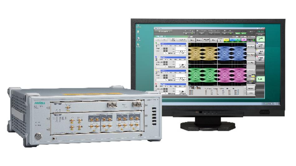 Bitfehlerraten-Tester BERTWave MP2110A von Anritsu mit Oszilloskop-Erweiterung.