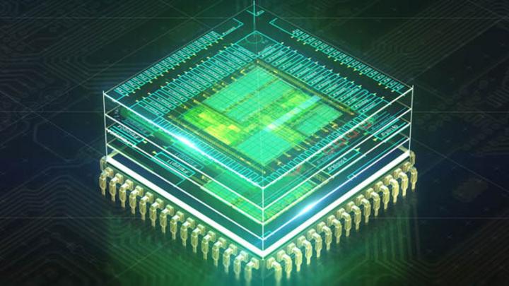 CPU-Architektur in 3D-EDA-Darstellung