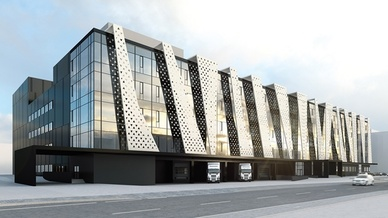 Visualisierung des Neubaus von Binder in Neckarsulm