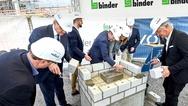 Grundsteinlegung des Neubaus von Binder
