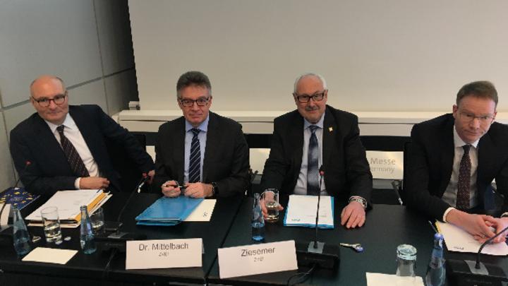 ZVEI-Pressekonferenz auf der HMI 2019 in Hannover