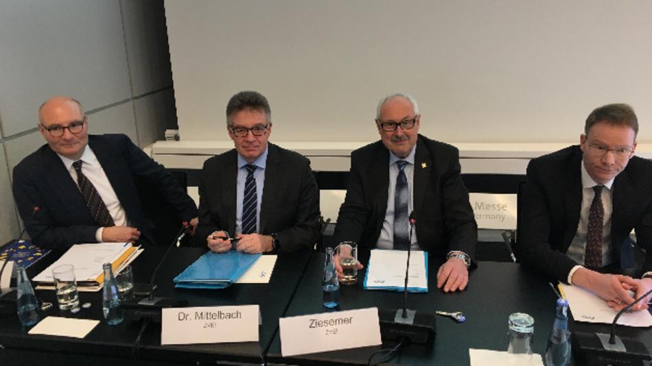 ZVEI-Pressekonferenz auf der HMI 2019 in Hannover.