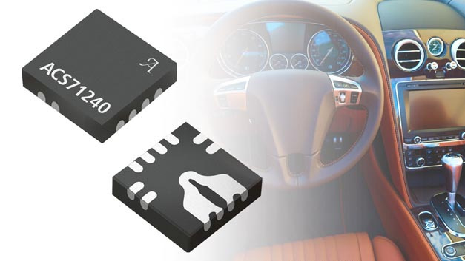 Die neue Stromsensor-IC-Serie ACS71240 erhöht die Sicherheit und Effizienz beispielsweise in Elektrofahrzeug-Ladegeräte.