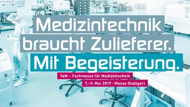 Die T4M findet erstamls vom 7. - 9. Mai 2019 in Suttgart statt.
