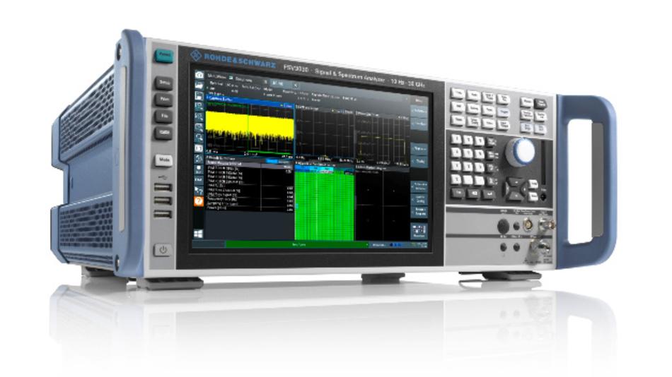 Der R&S FSV3030 Spektrumanalysator von Rohde & Schwarz ist für die Validierung von 5G-Signalen in Labor und Produktionsumgebung ausgelegt.
