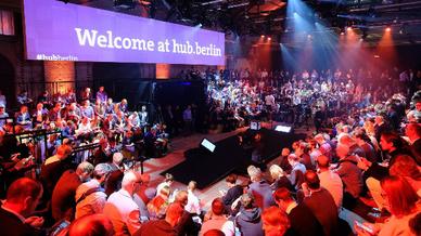 Auf der hub.berlin, die am Donnerstag zu Ende ging, waren Unternehmen und Start-ups sowie Vertreter aus der Politik zusammengekommen.