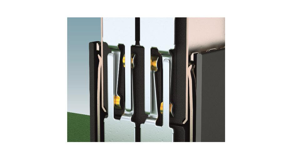 Bild 2: Die doppelseitig ausgeführten Kontakte beim Kontaktsystem sorgen für eine hohe mechanische Stabilität und erlauben bis zu 500 Steckzyklen.