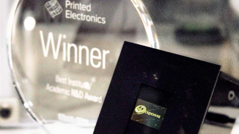 Für ihre Arbeiten rund um die ESJET-Drucktechnik wurden das Fraunhofer IAP, Imec und das TNO/Holst Centre von IDTechEx ausgezeichnet.