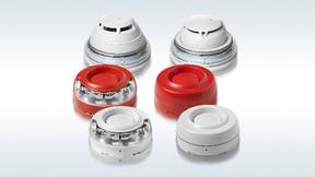 Alarmierungsgeräte in Rot und Weiß