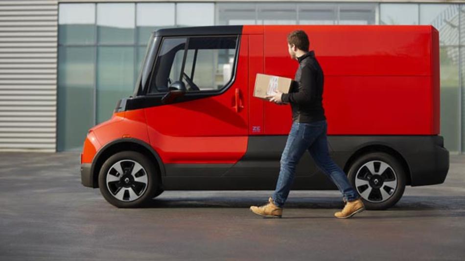 Renault testet das elektrische und voll vernetzte leichte Nutzfahrzeug EZ-Flex im städtischen Lieferverkehr.