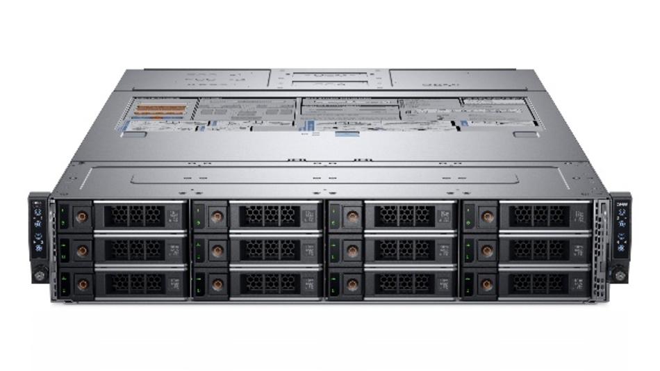 Die EMC-PowerEdge-C6420-Server von Dell eignen sich für High Performance Computing und KI direkt an den Maschinen. Sie bieten maximale Dichte, Skalierbarkeit und Energie-Effizienz pro Einheit auf einer modularen 2HE/8S-Plattform.