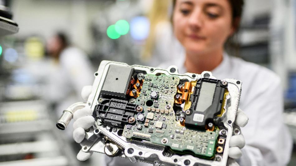 Die Leistungselektronik von Continental für die E-Mobilität.