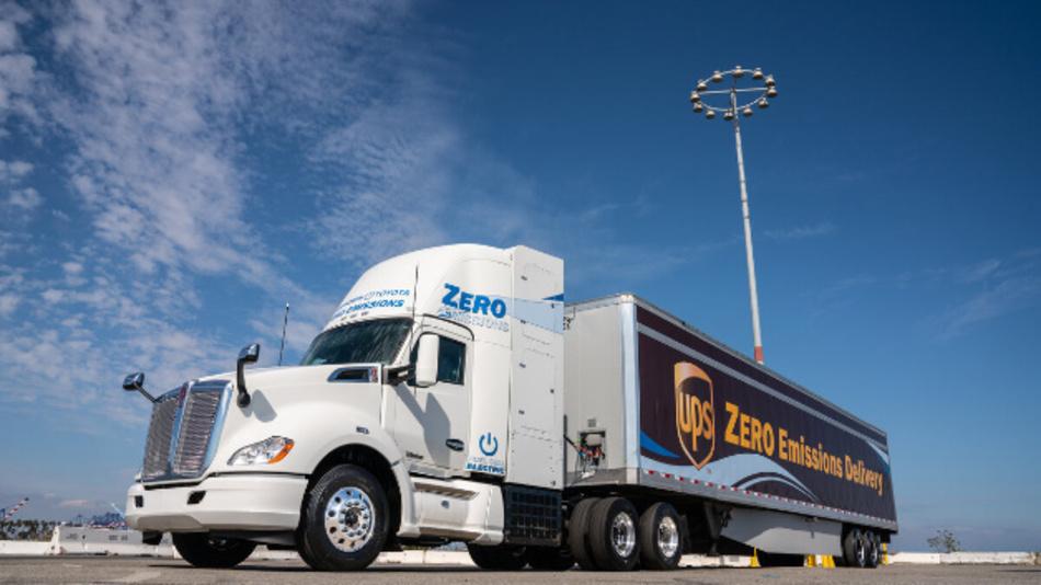 Brennstoffzellen-Lkw von Toyota und Kenworth.