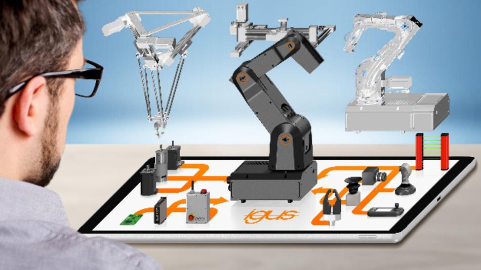 Igus hat das Modell eines digitalen Marktplatzes vorgestellt, der Kunden online dabei hilft, die für sie individuell passende Low-Cost-Automatisierungslösung auf Roboterbasis schnell zu finden und zu konfigurieren oder zu bauen.