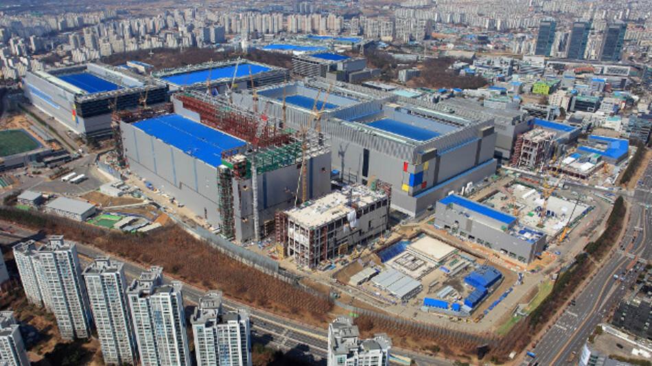 Das Werk von Samsung in Hwaseong in Korea.