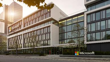 Unternehmenszentrale von Microsoft Deutschland in Schwabing.