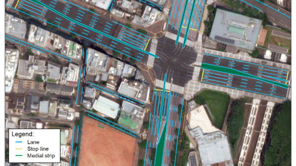 Beispiel-Karte der Tokio-Region auf Basis hochauflösender Satellitenbilder.