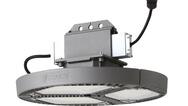 Die neuen LED_Hallenleuchten von Schuch haben eine Systemleistung von 198 W.