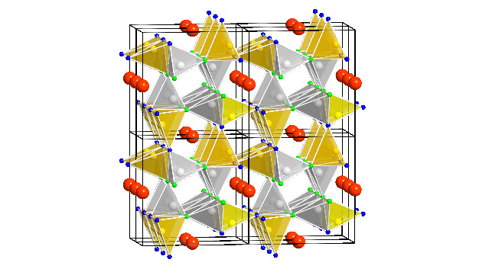 Die Kristallstruktur des »Salon«-Leuchtstoffs ist die Ursache für dessen guten Lumineszenzeigenschaften.