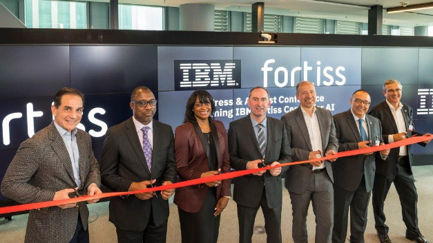 Bavaria's Minister for Economic Affairs, Hubert Aiwanger, opens the joint AI research centre of IBM and fortiss in Munich.
